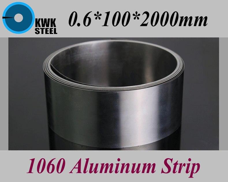 0.6*100*2000mm 1060 Aluminum Strip Aluminium Foil DIY Material Free Shipping