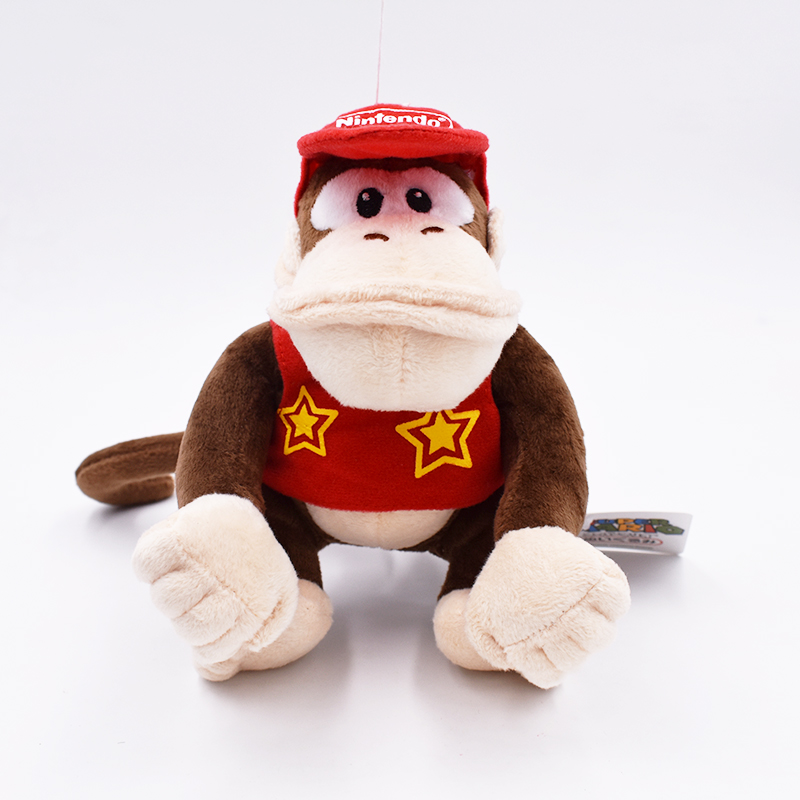 2017 Hot Sales Brand Free Shipping 1pcs Super Mario Bros Donkey Kong 14CM Plush Doll Diddy Kong Macacos Animais