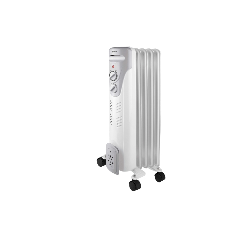 Oil heater Vitek VT-1707 (W) (Power 1000 W, 5 sections, heating area up to 10 sq. M, overheating protection) heater oil resanta омпт 7н power 1500 w 7 sections adjustment heating