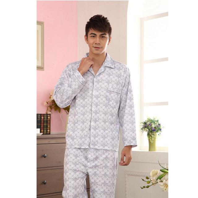2016 hombres de Punto de Algodón de Ocio Juegos de los Pijamas Se Compromete Confortable Ropa de Dormir