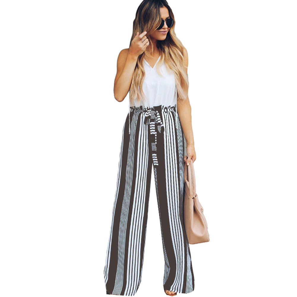 YJSFG HOUSE Womens   Pants   Full Length Bow   Wide     Leg     Pants   Sashes Trousers Ladies Evening Long Party   Pants   High Waist Summer Hot