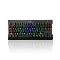 Redragon K561 87Key Single RGB Rainbow Mechanical Keyboard With Blue Switch Black