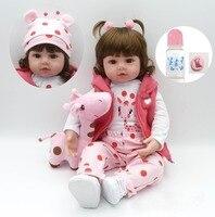 58cm Bebe reborn silicone vinyl reborn baby Girl dolls toys for children gift lol dolls boneca reborn toddler