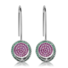 100% Real 925 Sterling Silver Drop Earrings For women Ethnic Luxury Spinel Jewelry Earring Anniversary Engagement Party Gifts