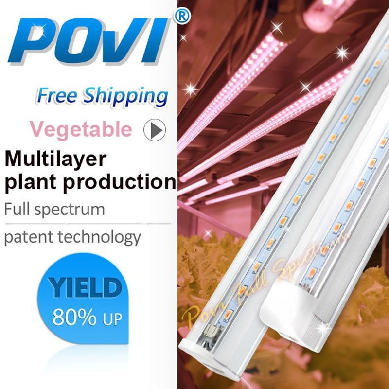 Led T5 Hydroponic LED Grow Light Indoor Planting Supplementary Lighting For Plants Full Spectrum  Vegetable Grow Light Tube 1PCS