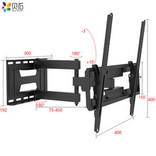 Full Motion 23-65 LCD TV Wall Mount Folding Monitor Bracket Holder Swivel Soporte Pared Retractable Vesa Beugel