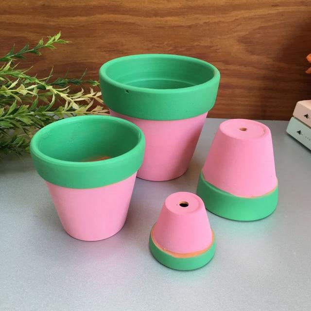 AliExpress & US $165.0  100pcs/lot Miniature Garden Ornament Terracotta Pots Two Color Clay Flower Pots Bonsai Home Indoor Outdoor Decoration ZA4120-in Flower Pots ...
