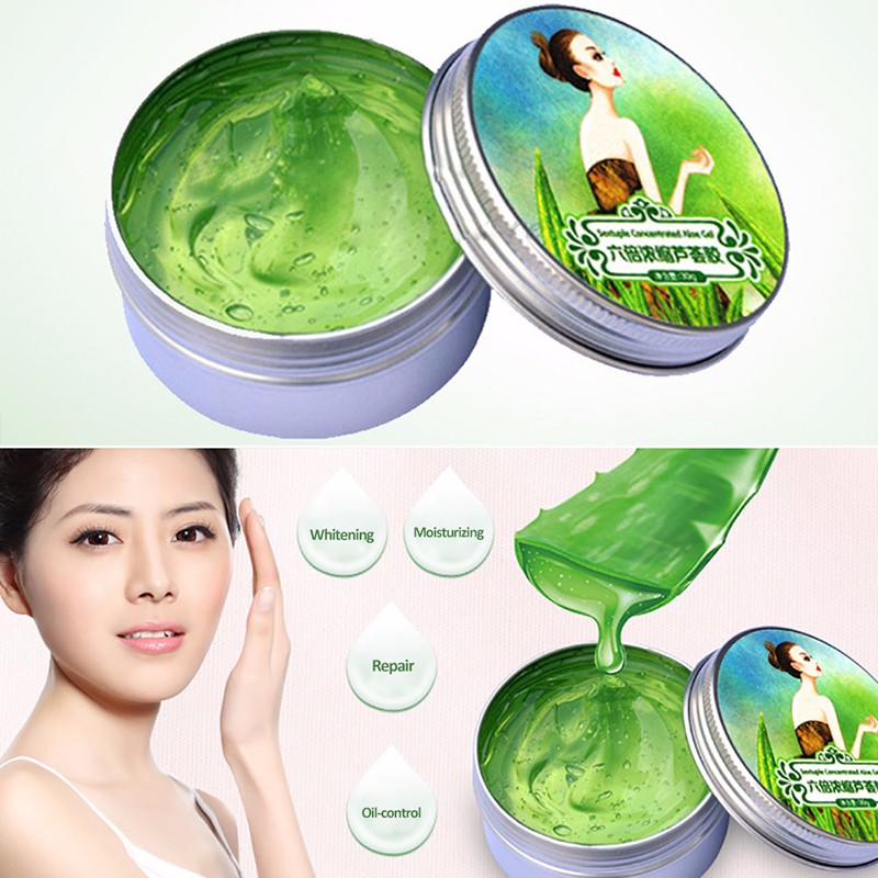 100% Natural Aloe Vera Gel Face Whitening Cream Moisturizing Acne Repair Skin Care Hyaluronic Acid Anti Winkle Treatment Cream