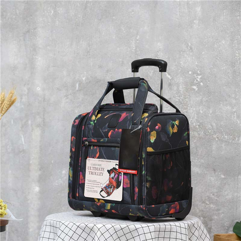 BeaSumore Business Mini Rolling Luggage Spinner 16 inch Multifunction Cabin Wheels Suitcase Travel Bag Women Trolley