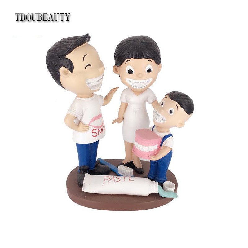 TDOUBEAUTY Teeth Model Dental Crafts Dental Ornaments Dental Clinic Decorations Opening Gifts Free Sipping dentist gift resin crafts toys dental artware teeth handicraft dental clinic decoration furnishing articles creative sculpture