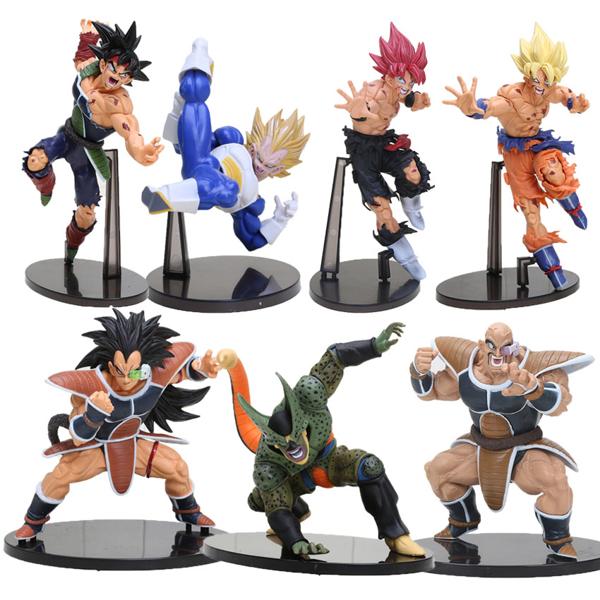 14-22CM Dragon ball Z SCultures BIG Resurrection Of F Styling God Super Saiyan Son Goku Bardock Dragon ball Z PVC action Figure марк бойков 泰坦尼克之复活 возвращение титаника resurrection of titanic