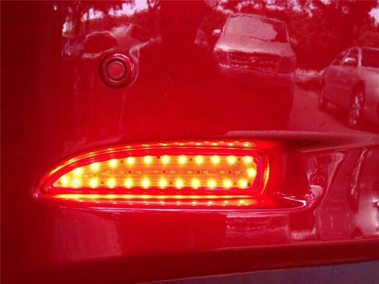 ФОТО Reflector, LED Rear Bumper Light, rear fog lamp, Brake Light For Mazda 6 M6 2014, atenza with turn signal and warning light