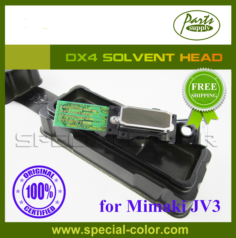 100% Original Mimaki JV3 Printer Head DX4 Printhead Solvent (Get 2pcs DX4 small damper as gift) original printer printhead mainfold eco solvent print head capping cover for roland rs640 740 sj1045ex sj1000 vp300 vp540 xc540