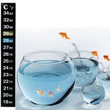 Aquarium Supplies Fish Tank Thermometer Stickers LCD Temperature Measuring Accessories 1Pcs/5Pcs