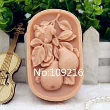 New Product!!1pcs Three Pear (zx187) Food Grade Silicone Handmade Soap Mold Crafts DIY Mould