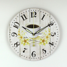 Modern Kitchen Wall Clock Creative Design Warranty 3 Years The Coffee Decorative Wall Clock More Silent Mediterranean Style