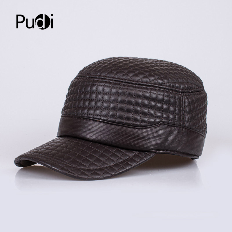 HL038 genuine leather baseball cap/hat brand new men's real leather adjustable army caps/hats with 2 colors aorice autumn winter men caps genuine leather baseball cap brand new men s real cow skin leather hats warm hat 4 colors hl131