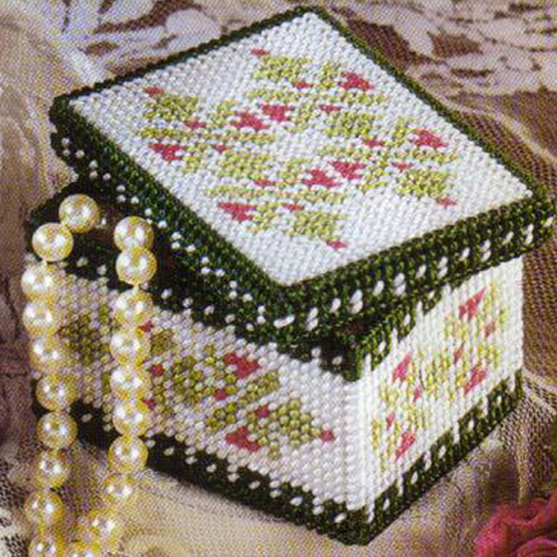 has Been Cut Z46d Quality First Buy Cheap Embroidery Storage Bag Diy 3d Cross-stitch,storage Box,jewelry Box,chinese Cross Stitch Home & Garden