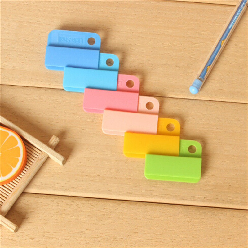 6 Pcs/lot Memo Clip Candy Color Creative Writing Photo Paper Clips Photo Holder Punched Pocket School Office Supplies
