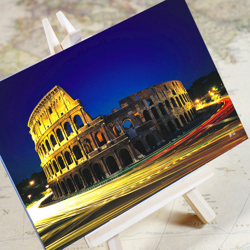 6pcs/set charming City Series Rome Urban Landscape Postcard /greeting Card/birthday Card/christmas Gifts Choice Materials Calendars, Planners & Cards