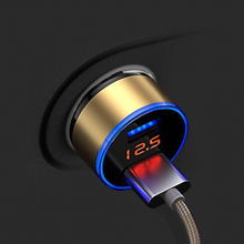 5V 3.1A Max dual usb car charger for samsung xiaomi phone with LED display mobile iphone