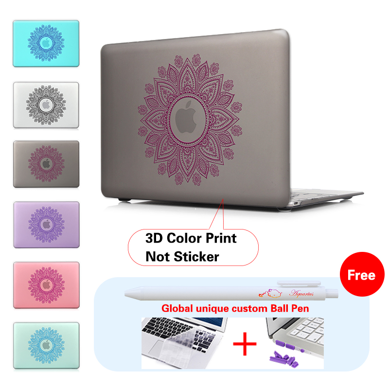 Mandala Round Ornament Print Shell Cover For Macbook Pro 133 Case Laptop Mac Book Air 11 12 13 15 Inch With Touch Bar In Bags Cases From