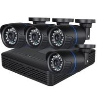 Hamrolte POE NVR Camera System 13V 4CH POE NVR 720P POE Camera POE NVR Kit Home Security System Plug Play Motion Detection Xmeye