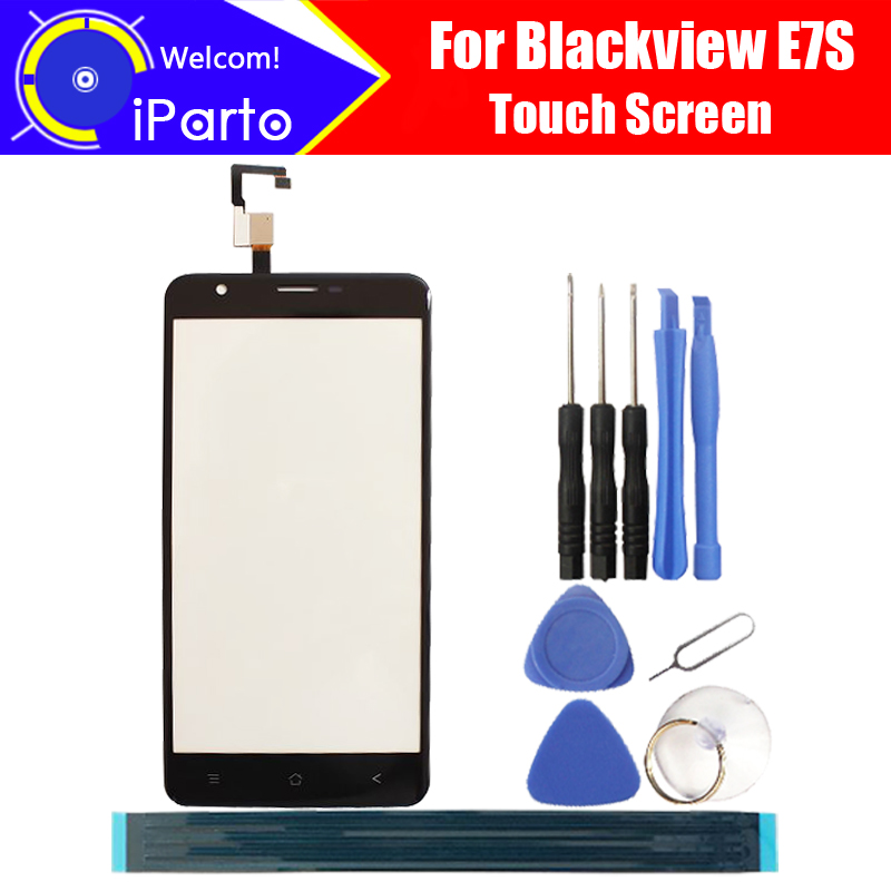5.5 inch Blackview E7S Digitizer Touch Screen 100% Guarantee Original Glass Panel Touch Screen Glass For E7S+ tools + Adhesive