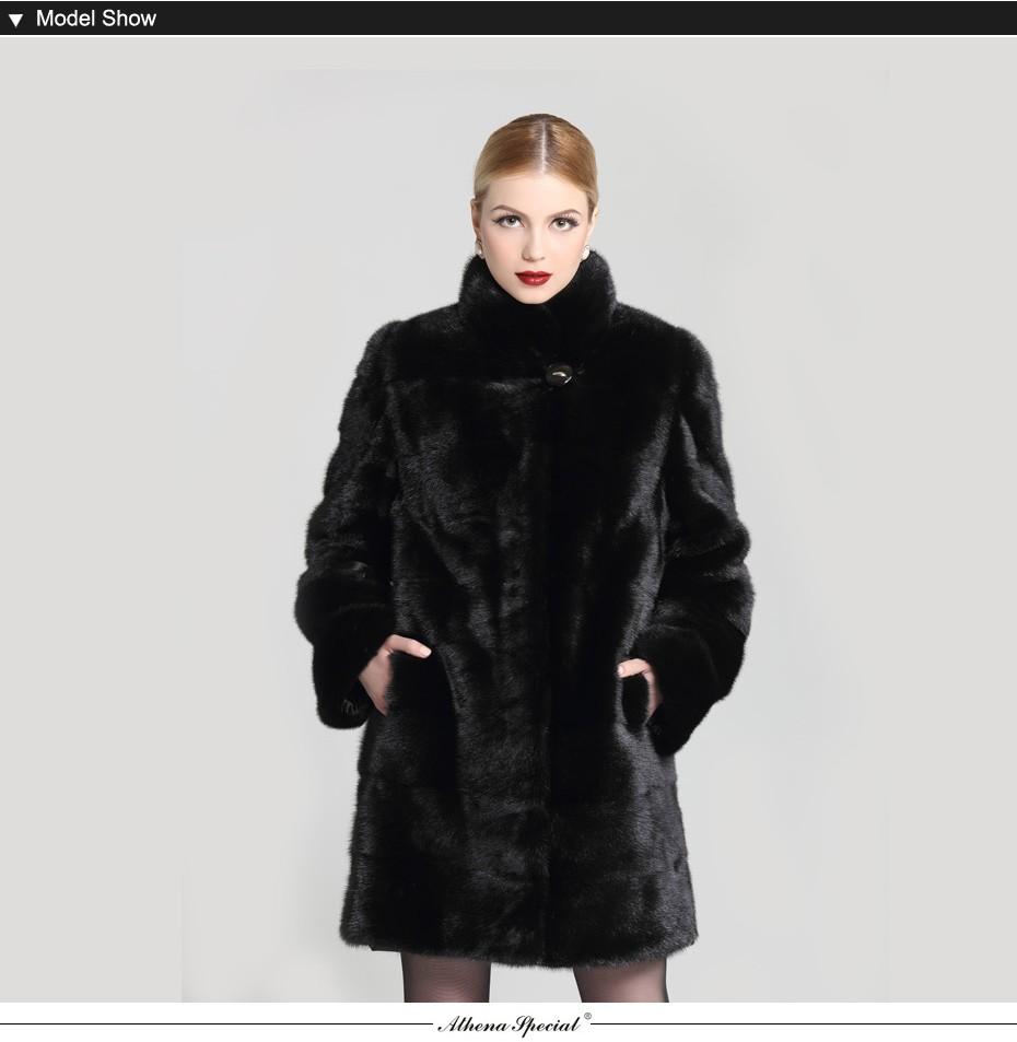 c451299e9 Athena Special Warming Genuine Women's Mink Fur Coat, Zipper Detachable  Sleeves Mink Coats,Winter Fur Mink Coat For Ladies -in Fur & Faux Fur from  ...