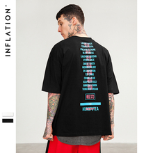 INFLATION 2018 New Arrivals Original Brand Clothing Funny Print Black T-shirts Men's High Quality Cotton Tops Tees 8264S
