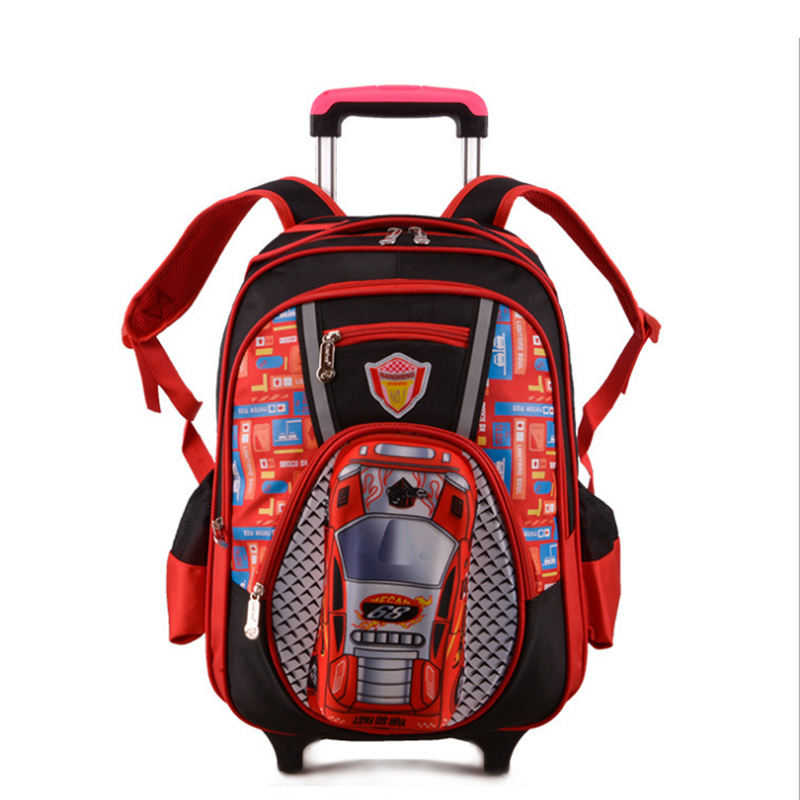 2015 New Kids Wheels Removable Trolley Backpack Wheeled Bags Children School Bag Boys Travel Children's Backpacks - Lightningshenzhenco., LTD store