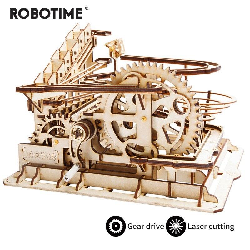 Robotime 4 sortes bricolage marbre course jeu découpe Laser 3D en bois Puzzle jeu assemblage jouet cadeau pour enfants adulte LG501