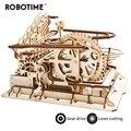 Robotime 4 tipos DIY mármol correr juego de corte láser 3D juego de rompecabezas de madera ensamblado juguete regalo para niños adultos LG501
