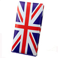 Women's PU Leather Long Wallets Vintage Print of US and UK Flag Lady's Long Coin Purses Money Bags -A