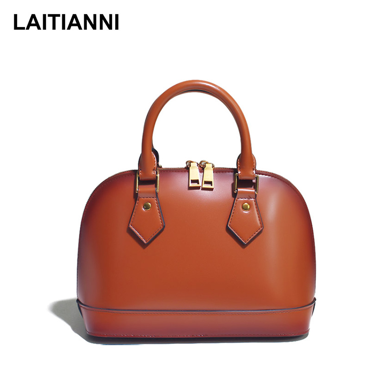 Double Side Handbags Women New Arrival Genuine Leather Tote Bags Female High Quality Lady Hard Shell Messenger Bags