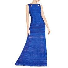Frauen Lange Verbandkleid, Figurbetontes Kleid Bodenlangen Neueste Cocktail Party Kleid 2394 XS S M L