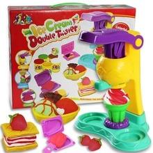 Цвет пластилина глины плесень мороженое Maker Tool set Творческий DIY Играть Тесто Формы Пластилина Грязь детские Развивающие игрушки подарки