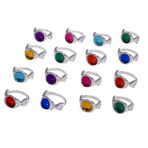 10 Pcs Mixed Colors Plastic Resin Crystal Children Rings 13-15mm Sizes Colorful Kids Finger Ring Jewelry Party Gifts
