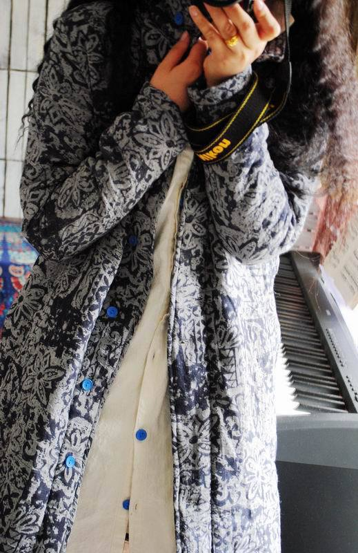 Taille Coton Yoyikamomo Parkas Coton Nouvelle rembourré Épais Longue Maxi Grande D'origine Automne Femmes Lâche 6tqqSZp
