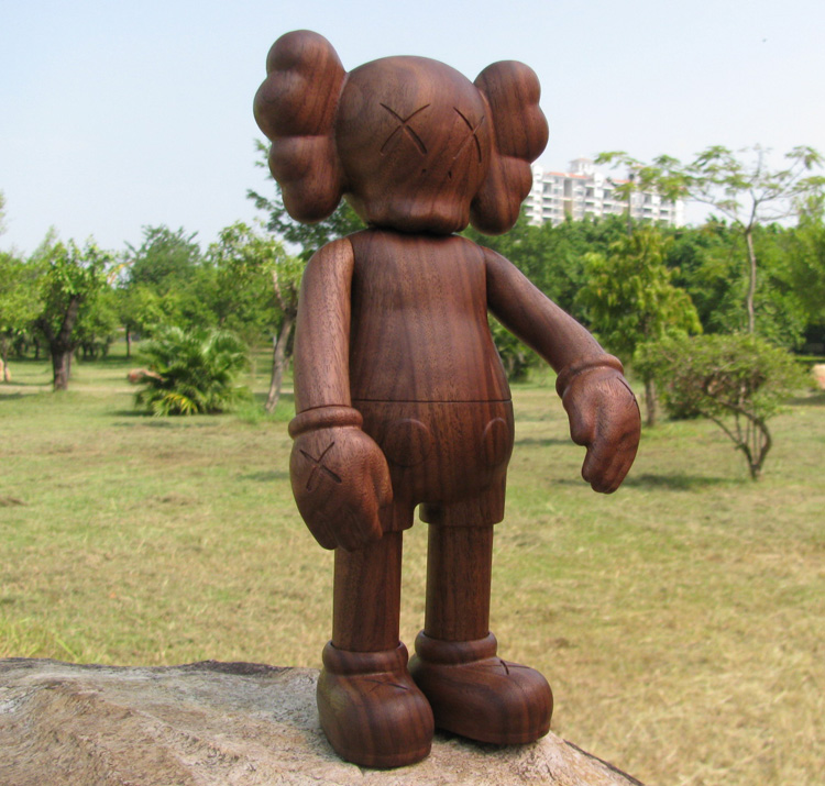 High quality 11inch KAWS Companion Wood Kaws original fake KAWS X Karimoku Original medicom toy fashion toys new kaws original fake joe kaws dog medicom toy gift for boyfriend kaws original fake