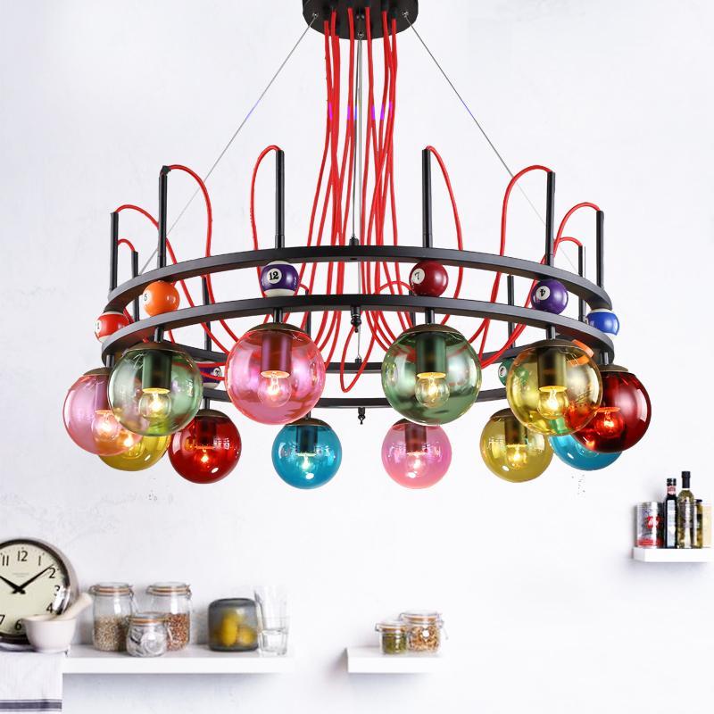 Vêtements design scandinave suspension lumières magasin couleur salon Doudou Club rétro lumières décoratives LU731354