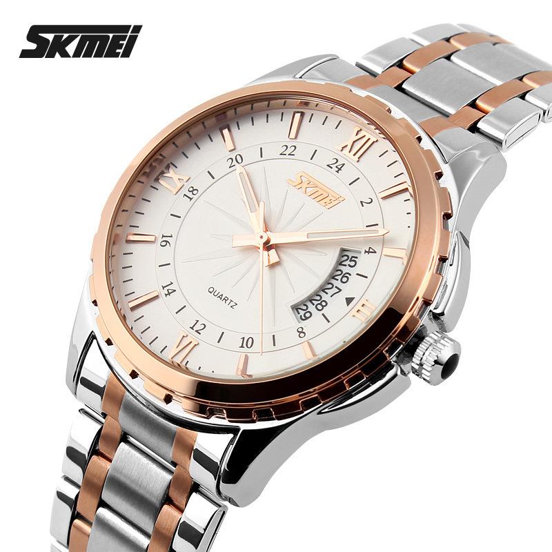 Prix pour 2016 Montres hommes marque de luxe Skmei quartz montre hommes en acier plein montres de plongée 30 m Mode sport montre relogio masculino