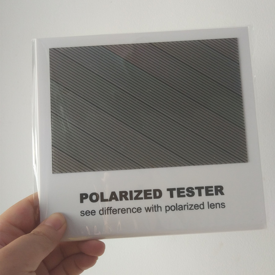 Polarized Lens Test Card for Testing Polarizing sunglasses Polaroid Test Card eyewear sun Glasses accessories brand aluminum magnesium men s sun glasses polarized mirror lens outdoor eyewear accessories sunglasses for men