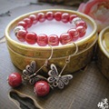 Ceramics Jewelry Pure Handmade Jewelry High Temperature Firing Ceramic Bracelet and Earrings Suit