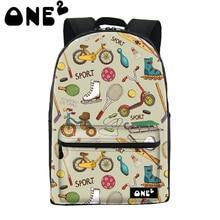 Купить получить один бесплатный 2016 ONE2 Дизайн моды серии движение parttern hot shot девушки школьная сумка видных модный рюкзак