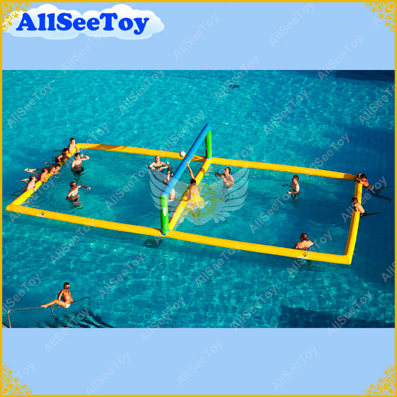 US $899.0 |Inflatable Water Volleyball Court for Aqua Game in Sea or  Swimming Pool,Air Pump Included-in Inflatable Bouncers from Toys & Hobbies  on ...