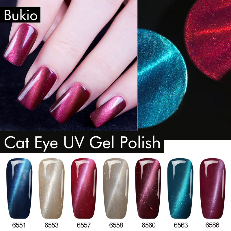 Bukio Paint Gel for Nail Design Cats Eye Art Decorations Gel Varnishes for Nails Sale Diverse Little Things for Manicure 7ml