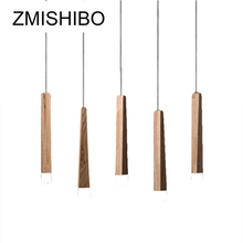ZMISHIBO Simple Wooden LED Pendant Lights 30CM 220V Cord 1-5 Lamps Ceiling Surface Mounted For Palor Study Master Dining Bedroom