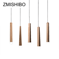 ZMISHIBO Simple Wooden LED Pendant Lights 30CM 220V Cord 1 5 Lamps Ceiling Surface Mounted For