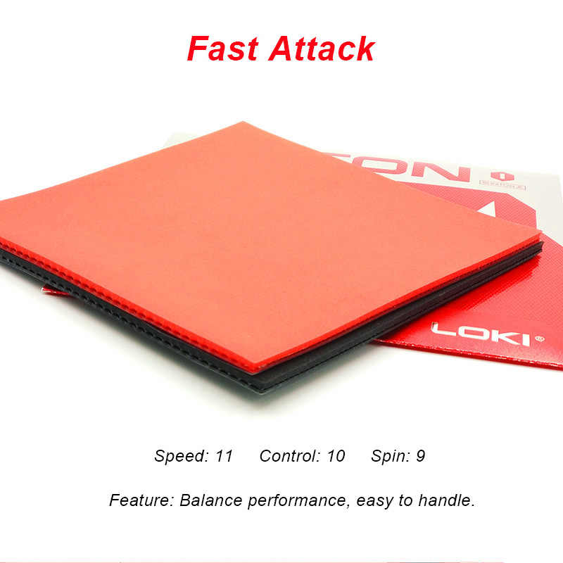 LOKI RXTON1 ITTF Approved Semi Sticky Table Tennis Rubber Hard Sponge Ping Pong Rubber Fast Attack Red Pingpong Rubber